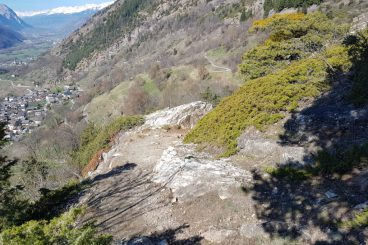 7 avril la rampe sud du Lötschberg