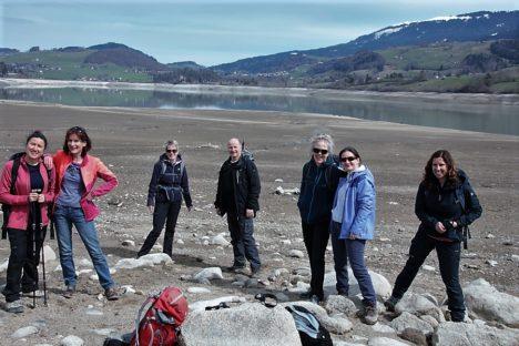 2 avril balade le long du lac de Gruyère