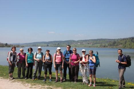 5 mai Le tour du lac de Saint-Point, France