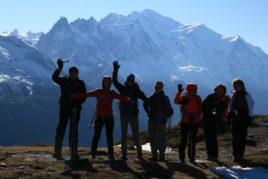 18 nov les mélèzes & le Mont Blanc