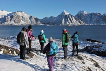 Aurores boréales & raquettes sur l'île de Senja, Norvège