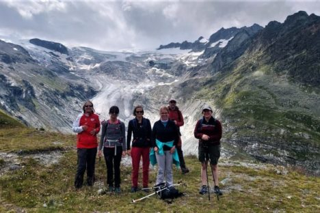 7 août Le glacier de Ferpècle, cabane Bricola